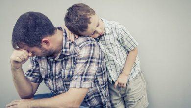 اصابة الأب بالضغط النفسي يسبب عدوى الاكتئاب لاطفاله