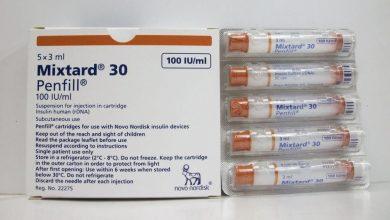قلم انسولين ميكستارد نوفوليت لعلاج مرض السكر بالحقن Insulin Mixtard