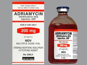 امبولات ادرياميسين لعلاج سرطان الثدي اللويكيميا لمفوما سركوما سرطان المعدة