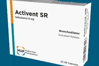 صورة كبسولات اكتيفينت اس ار دواء موسع للشعب الهوائية activent sr