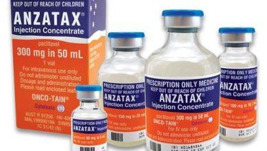حقن انزاتاكس مضاد للسرطان لعلاج سرطان المبيض وسرطان الثدي ANZATAX