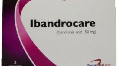 اقراص اباندروكير للعلاج والوقاية من هشاشة العظام خاصة للنساء Ibandrocare