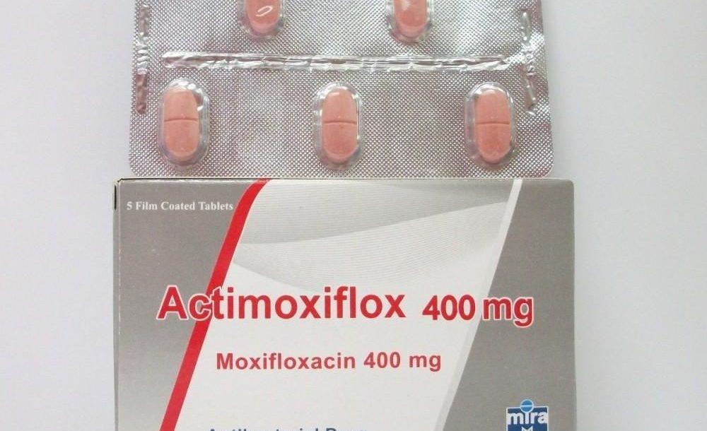 اقراص اكتيموكسيفلوكس لعلاج التهاب الجيوب الأنفية الحاد والإلتهاب الرئوى Actimoxiflox
