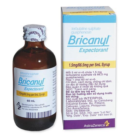 دواء بريكانيل لعلاج الربو وصعوبة التنفس وضيق الصدر والسعال Bricanyl