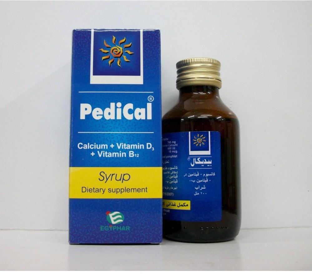 شراب بيديكال مكمل غذائي لعلاج ضعف ولين وهشاشة العظام Pedical