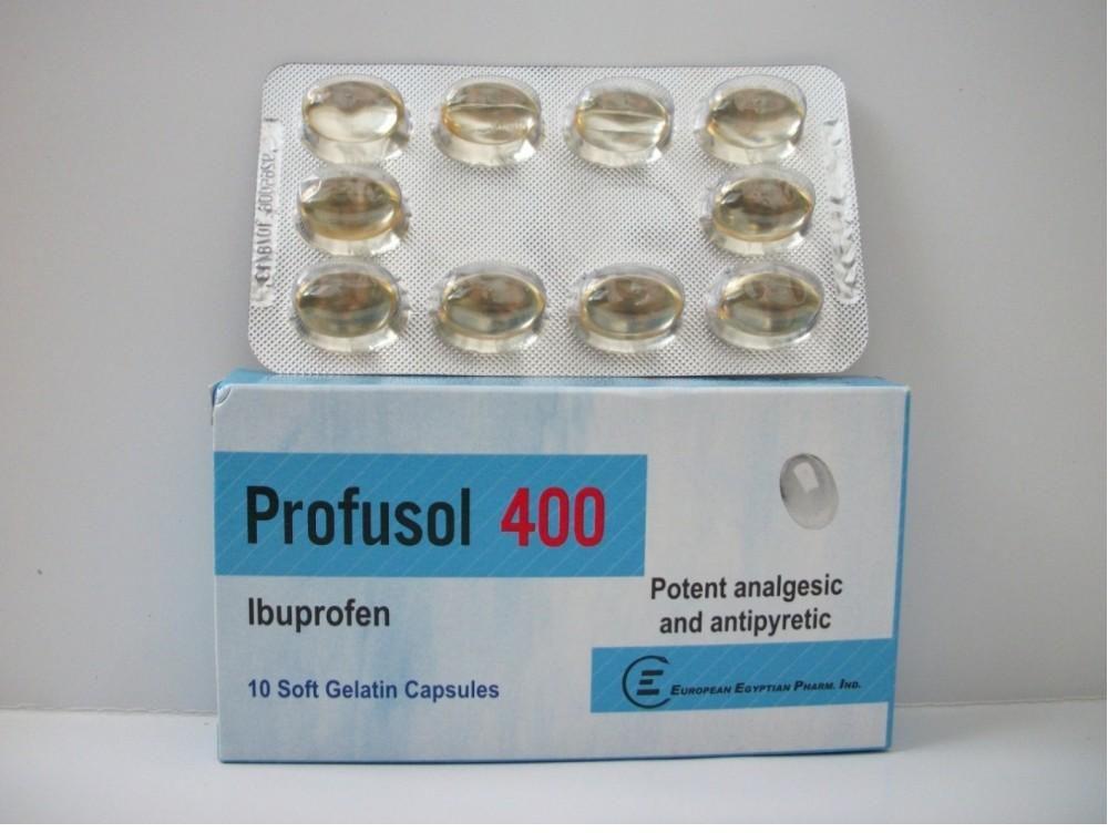 كبسولات وشراب بروفوسول خافض حرارة مسكن للالام مضاد للالتهاب Profusol