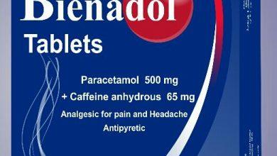 اقراص بينادول لعلاج الام الصداع والبرد والاسنان والتهاب المفاصل Bienadol