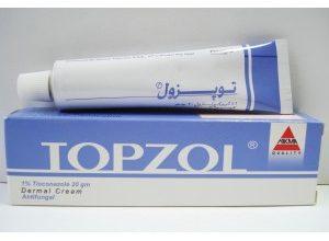 كريم توبزول مضاد لفطريات وبكتيريا المهبل و تينيا القدم Topzol