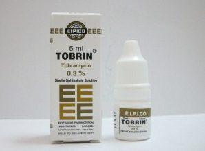 قطرة ومرهم توبرين مضاد حيوي لعلاج العدوى البكتيرية للعين Tobrin