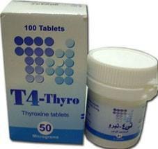 اقراص تى4 ثيرو لعلاج قصور نشاط الغدة الدرقية T4 Thyro