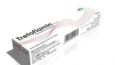 كريم تريتوفلامين لعلاج الالتهابات الجلدية وتفاعلات الحساسية والاكزيما Tretoflamin