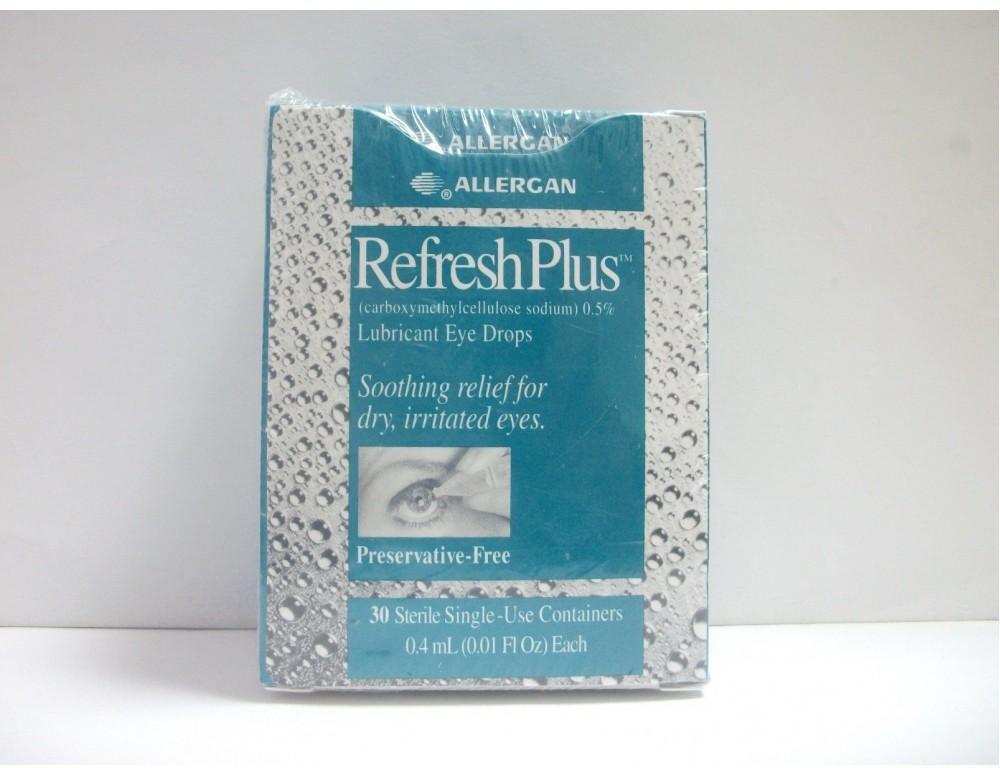 قطرة ريفريش بلس لعلاج جفاف العين حيث تستخدم كمرطب للعين Refresh Plus