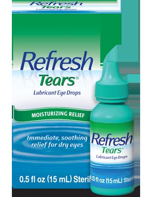 قطرة ريفريش تيرز مرطب للعين لعلاج جفاف العين وحرقان العين Refresh tears