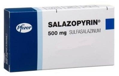 اقراص سالازوبيرين لعلاج التهاب القولون التقرحى واضطراب الجهاز الهضمي