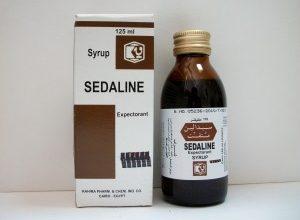 شراب سيدالين لتخفيف السعال وعلاج نزلات البرد والانفلونزا Sedaline