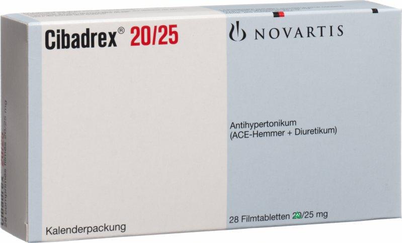 اقراص سيبادريكس لعلاج ضغط الدم واحتباس السوائل وفشل القلب Cibadrex