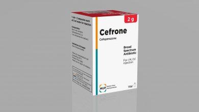 حقن سيفرون مضاد حيوي لعلاج امراض الحمى التيفودية والسيلان CEFRONE