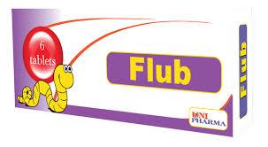 دواء فلوب طارد لديدان المعدة مثل دودة الاسكارس ودودة الانكلوستوما Flub