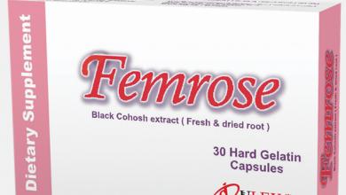 صورة دواء فيمروز مكمل غذائى لتحسين وظائف الجسم وفى حالة انقطاع الطمث FemRose