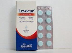 اقراص ليفوكار لعلاج مرض باركنسون الشلل الرعاش Levocar