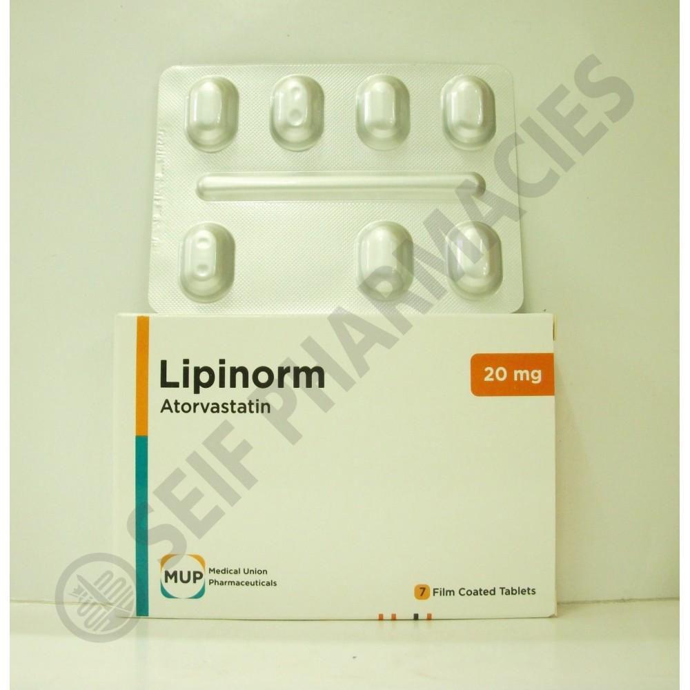 ليبينورم اقراص lipinorm لتنظيم الدهون بالدم وخفض الكوليسترول بالدم