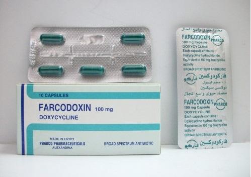 كبسولات فاركودوكسين مضاد حيوى لعلاج حب الشباب والدمامل FARCODOXIN