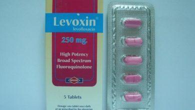 صورة دواء ليفوكسين Levoxin لعلاج عدوي الانف والاذن والحنجره والتهاب الجيوب الانفيه