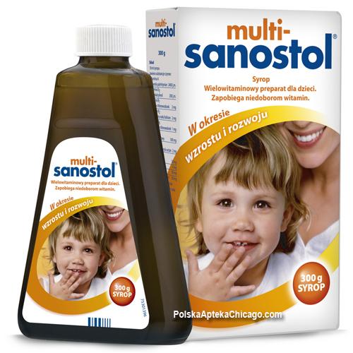 شراب مالتي سانوستول Multi-Sanostol مكمل غذائي لتعويض نقص الفيتامينات عند الاطفال