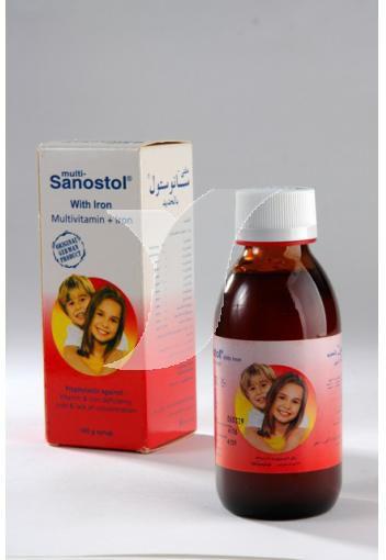 شراب ملتي سانوستول بالحديد مكمل غذائي Multi- Sanostol with iron