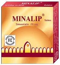 حبوب ميناليب Minalip لعلاج ارتفاع الكوليسترول والدهون الثلاثية بالدم