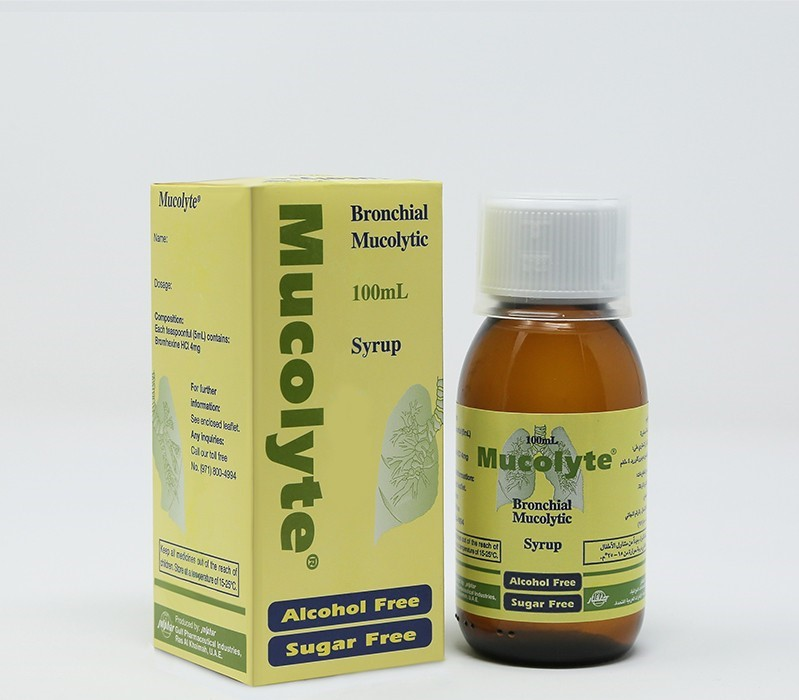 دواء ميوكوليت Mucolyte لعلاج امراض الجهاز التنفسي ومذيب للبلغم
