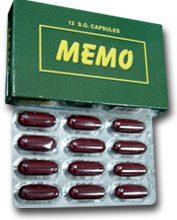 اقراص ميمو MEMO مكمل غذائي لتحسين النشاط الذهني والبدني