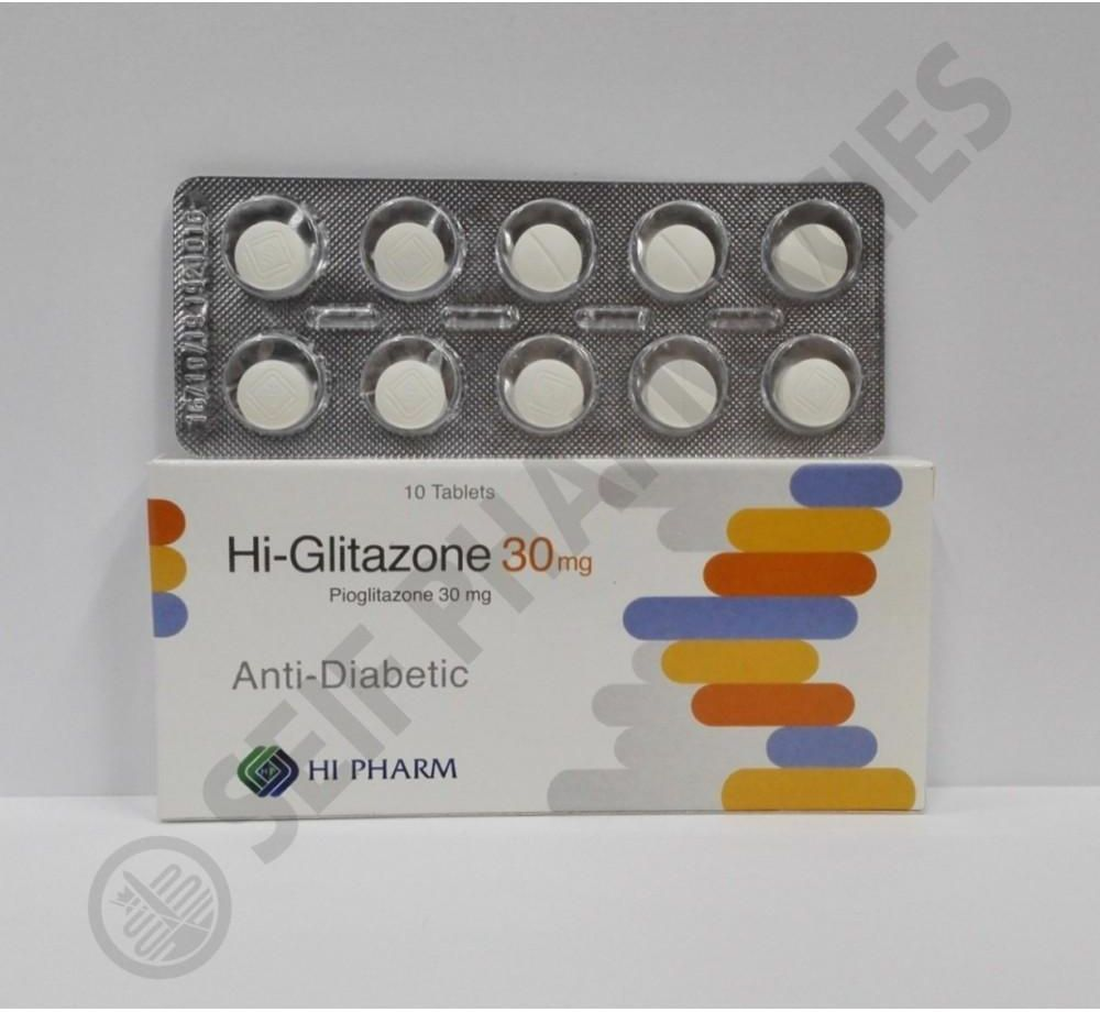 اقراص هاي جليتازون لعلاج مرض السكري من النوع الثاني Hi-Glitazone