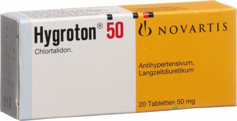 اقراص هيجروتون Hygroton لعلاج ارتفاع ضغط الدم و مدر للبول