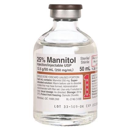 مانيتول محلول حقن Mannitol مدر للبول ولعلاج الفشل الكلوي الحاد