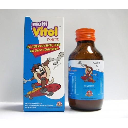 شراب ملتي فيتول Multi vitol مكمل غذائي لحالات نقص الفيتامينات و ضعف التركيز