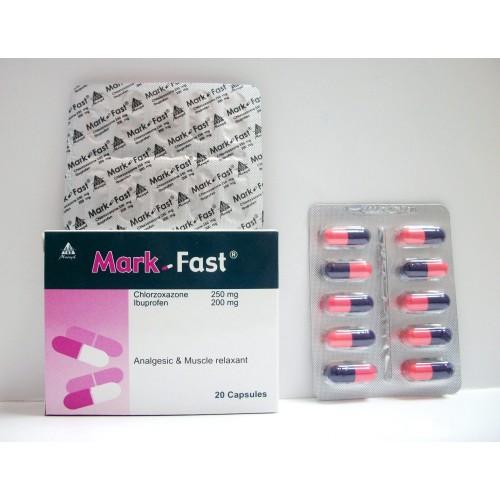 مارك فاست Mark Fast كبسولات لعلاج آلام الظهر ومسكن للالام وباسط للعضلات