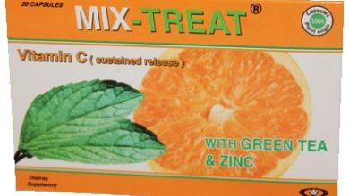 Photo of ميكس تريت MIX TREAT | شاي اخضر ،فيتامين سي ،زنك مضاد للأكسدة ومقوي للمناعة