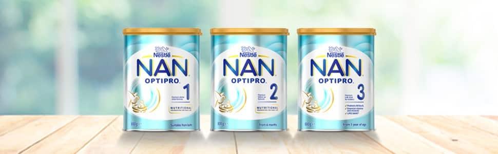 حليب اطفال نان NAN من شركة Nestlē لتغذية ونمو الاطفال وحديثي الولادة