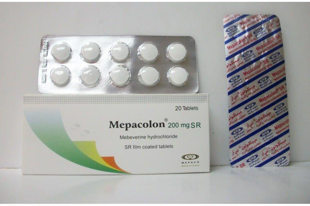 ميباكولون اقراص Mepacolon لعلاج اضطرابات الجهاز الهضمي والقولون العصبي