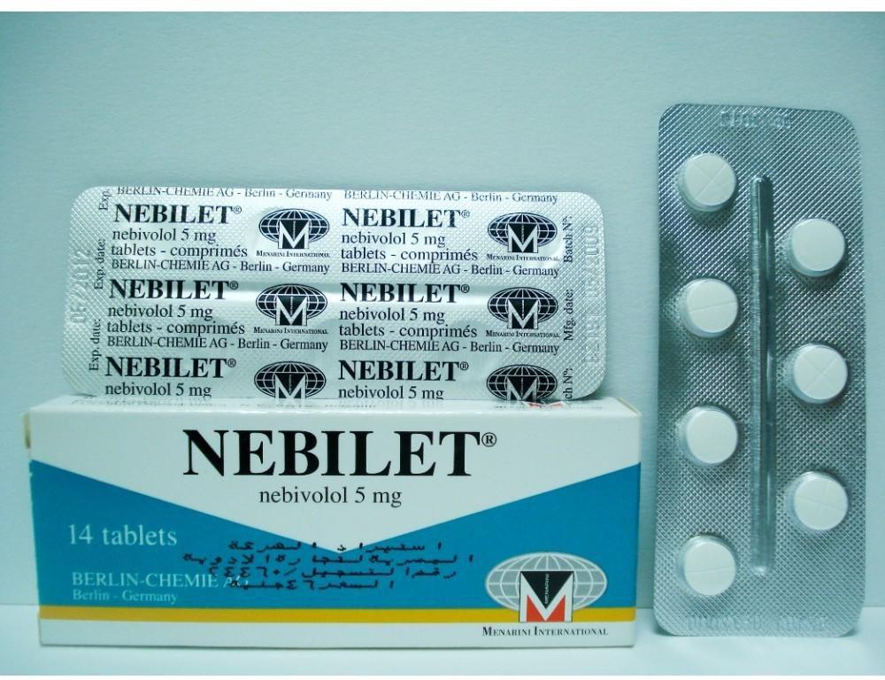 اقراص نيبيليت NEBILET لعلاج ارتفاع ضغط الدم وعدم انتظام ضربات القلب
