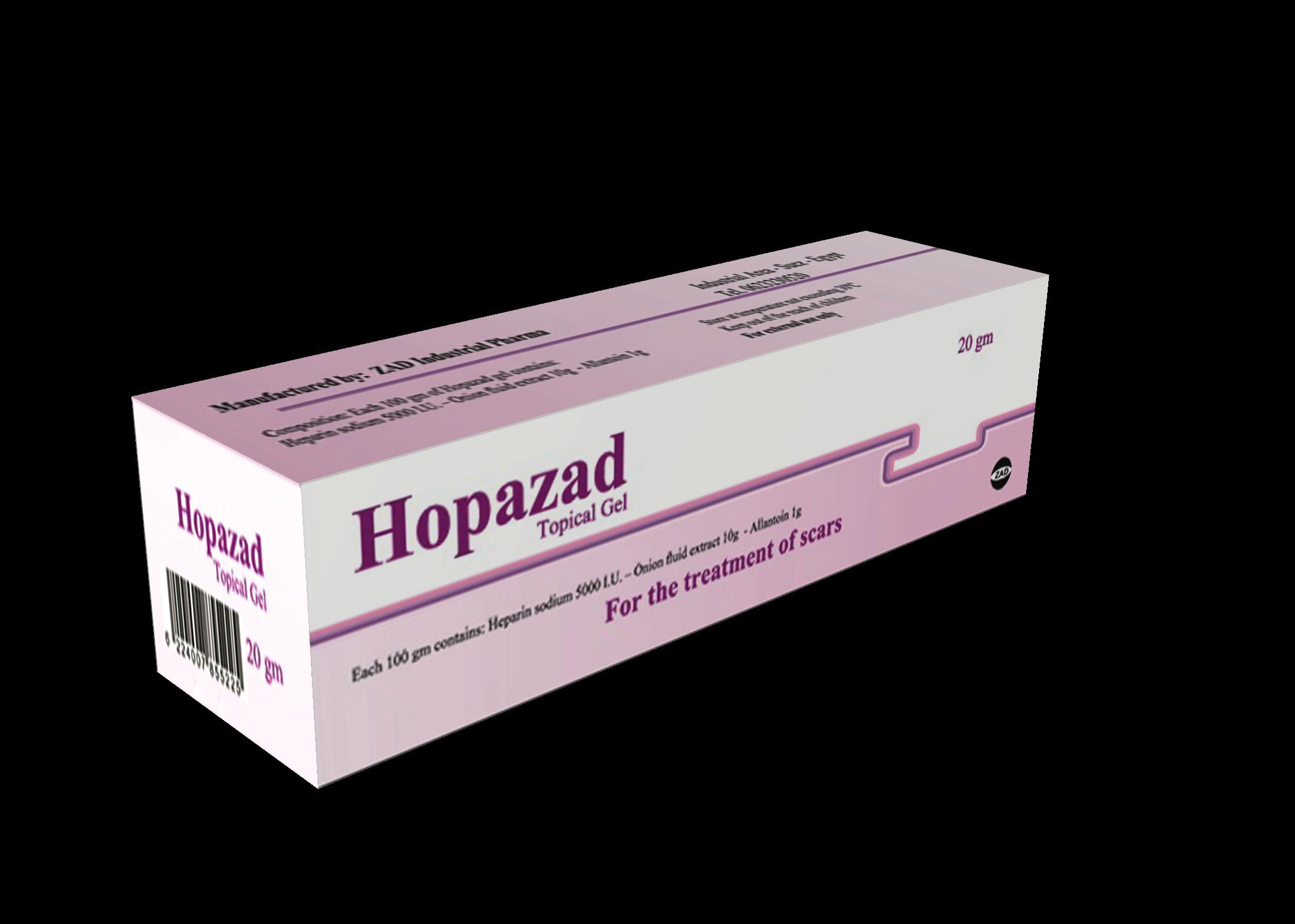 هوبازاد Hopazad جل لازالة آثار الحروق والجروح والندوب وترطيب تشققات الجلد