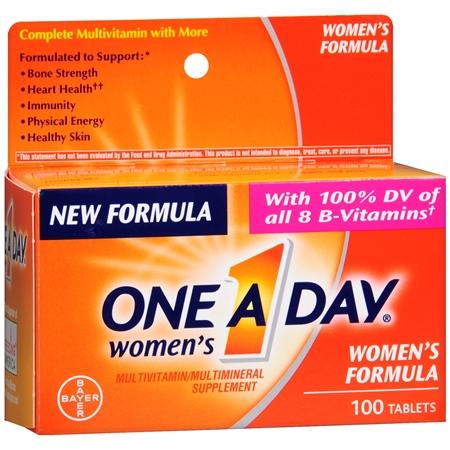 مكمل غذائي وان اداي متعدد الفيتامينات والمعادن للنساء One A Day Women's