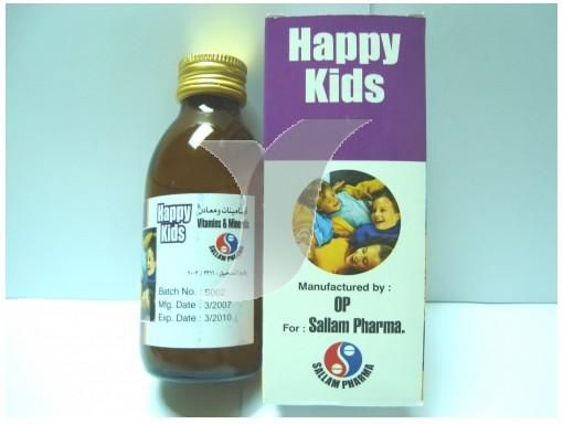 شراب هابي كيدز مكمل غذائي لتعويض نقص الفيتامينات والمعادن Happy Kids